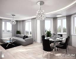 projekt wnętrza domu jednorodzinnego sierakowice salon styl glamour zdjęcie od futurum architecture