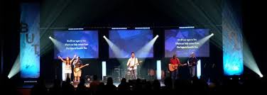 church lighting design ideas. Caged Performance On Stage With Pointed LED Lighting Church Design Ideas
