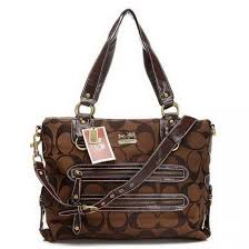 Coach Double Zip Logo Medium Coffee Totes EHM ...