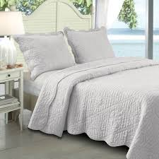 white king quilt set. Fine White Greenland Home Fashions La Jolla White Twin Quilt Set  Quilted Ocean Life Throughout King W