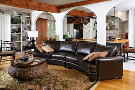 traditional leather living room furniture. Living Room Traditional Design. Sublime Curved Leather Sectional Sofa Decorating Ideas Images In Furniture