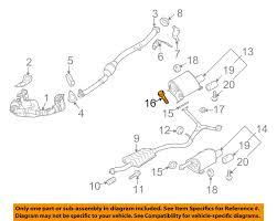 subaru oem 06 16 forester 2 5l h4 exhaust muffler amp pipe bolt subaru oem 06 16 forester 2 5l h4 exhaust muffler pipe bolt 010510307