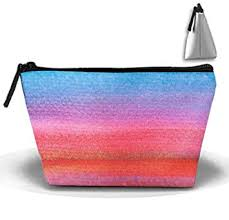 amazon nice watercolor cosmetic bags portable travel toiletry pouch tzoidal makeup bag beauty