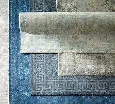 scroll to next item blue and grey rug crosier light area printed