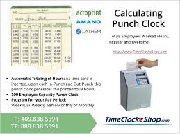 Employee Time Clock Calculator Punch Clock Calculator With Lunch Zaxa Tk