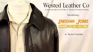 authentic indiana jones raiders of lost ark leather jacket in brown goatskin by wested leather