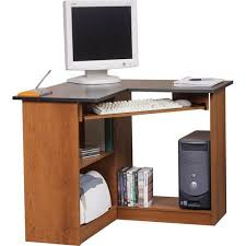 image corner computer. Orion Corner Computer Workstation, Oak And Black Image I