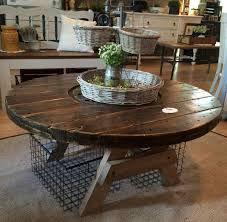 22 wooden spool table