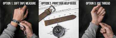 Mens Watch Case Size Chart How To Determine Your Watch Strap Size