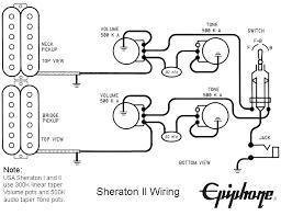 schematics Gibson Pickup Wiring Diagram epiphone sheratonii wiring gibson humbucker pickup wiring diagram