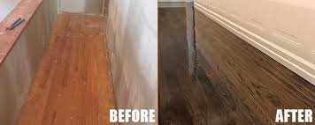 wood refinishing before and after