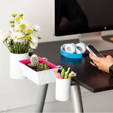 organizing office desk. Clip On Organizers: Make Some Super Chic White And Neon Containers That Will Help Stay Organized Without Sacrificing Any Of Precious Desk Real Estate. Organizing Office