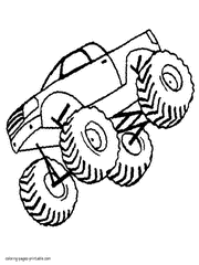 Trucks coloring pages suitable for preschool and kindergarten kids to color. Monster Truck Coloring Pages Free Pictures To Print 60