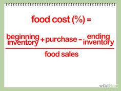 food percentage calculator calculate food cost easy food and restaurants
