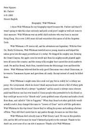 biography of walt whitman funny exam answers know your meme