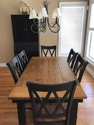 black dining room furniture sets. This 6\u0027 X 37\u201d Farmhouse Table In Early American Stain On Top And Black Dining Room Furniture Sets A
