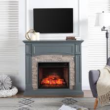 southern enterprises conway 45 75 in w electric media fireplace in gray