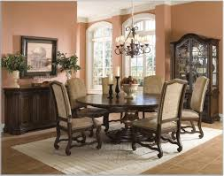 Small Chairs Seats Rectangular Dining Table And Mode Mirror Rustic