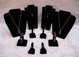Suit Display Stands Wholesale Black Velvet Jewelry Display Suit Jewelry Stands Kit For 39