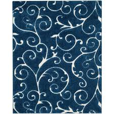 safavieh florida dark blue cream 8 ft x 10 ft area rug