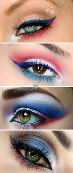 4th of july makeup ideas in red white and blue