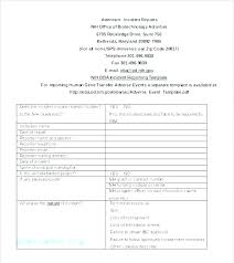 Security Incident Report Form Pdf Incident Report Template