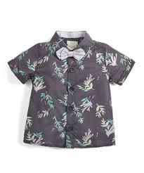 Little Me Clothing Size Chart Seaweed Print Shirt Navy Mamas Papas Uae