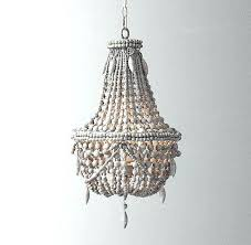 chandeliers wooden bead chandelier gray aged iron and