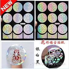 the new manicure sticker printing template diy hollow applique flowers flower nail stickers creative nf