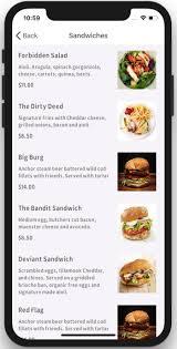 restaurant menu design app restaurant ios app template
