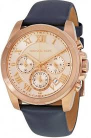 women s michael kors brecken chronograph blue strap watch mk2634 loading zoom