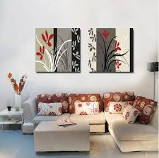 Paintings For Bedroom Decor Aliexpresscom Buy 2 Pieces Set Spray Painting Abstract Flower