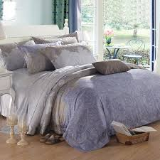 blue grey and brown royal paisley and bohemian shabby chic indian pattern 100 egyptian cotton full queen size bedding sets blue shabby chic bedding
