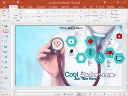Animated Stethoscope Powerpoint Template