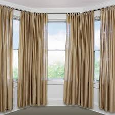 ... Ideas For Window Curtain, Curved Bay Window Curtain Track Elegant Bay  Window Curtain Rod Set 5 8 ...