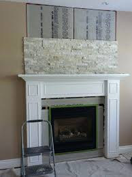 refaced brick fireplace house remodeling attaching cement resurface stone reface with stacked redo