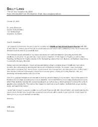 Cover Letter Sample For English Teacher English Teacher Cover