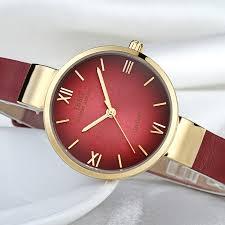 ibso top fashion red watch women genuine leather band women watches og quartz wrisch waterproof montre femme luxe smart watch