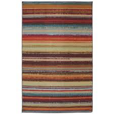 mohawk home avenue stripe  ft x  ft indooroutdoor printed