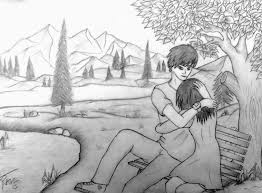 Pencil Sketches Of Couples Collection Of Cute Couple Pencil Drawing Download More