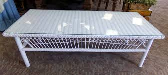 remarkable white rattan coffee table wicker glass top best gallery of tables furniture