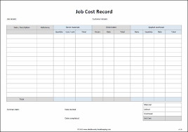 Free Job Costing Template