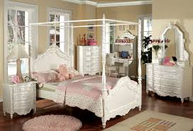Pearl White Bed Group - Traditional Children's Twin and Full Canopy ...
