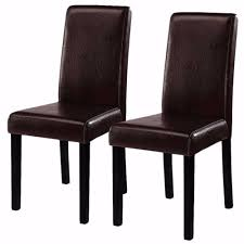 Modern Dining Chair Design Us 73 99 Goplus 2 Pieces Set Modern Dining Chairs Black Brown Leather Home Furniture Elegant Design Contemporary Dining Chair Hw51327 On Aliexpress