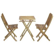 handmade bistro small bamboo table and chairs set vietnam
