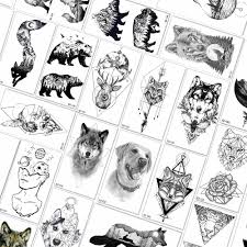 Qcuious смываемый временный мультфильм татуировки стикер для детей