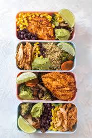 Weekly Lunch Prep Chipotle Chicken Meal Prep 4 Ways
