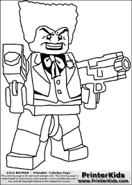 Small Picture Lego Batman The Joker Double Machine Gun Coloring Page
