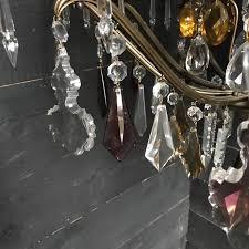 vintage colored crystal chandelier chandeliers lighting european antique warehouse