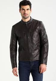 coby leather jacket dunkelbraun